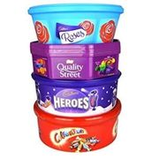 Chocolate Tubs (Quality Street & Celebrations 650g / Roses & Hereos 600g) £2.50