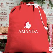 Cheap Personalised Embroidered Red Sack, reduced by £10.24!