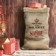 Best Price! Personalised Hessian Santa Sack at Personalisedgiftsshop