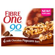 Cheap Fibre One 90 Calorie Milk Chocolate Popcorn Bars 4 Pack, Only £1!
