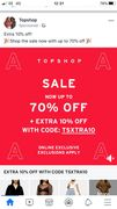 Get an Extra 10% off at Topshop