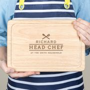 Cheap Personalised Family Chef Chopping Board for Him, Only £12.5!