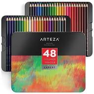 Arteza Colouring Pencils, Professional Set of 48 Colors