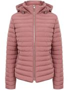 Ginger Quilted Hooded Puffer Jacket in Nostalgia Rose.