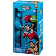 Kids Boxing Gloves & Punch Bag - Blue