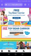 Special Offer - Free Toy Bear Carrier