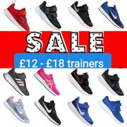 Trainers from £12 - £18 Reduced in Sale.