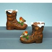 Premier 22cm Robin on Boot Resin Ornament (Choice of 2)