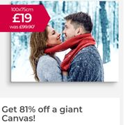 1 Metre Canvas for Only £19 + GET up to 5 FREE MIXPIX.
