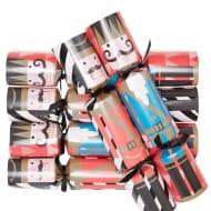 12 Nutcracker Print Gaming Christmas Crackers - save £6