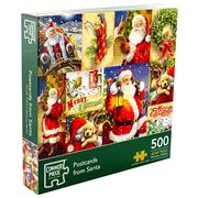 Cheap Postcards from Santa 500 Piece Jigsaw Puzzle with 50% Discount!