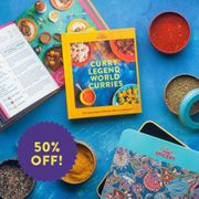 50% off Curry Legend Cookbook Kits and Spiceboxes!