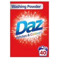Daz Washing Powder Whites & Colours 40 Washes 2.6kg