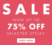 Sale Now up to 75% Off!