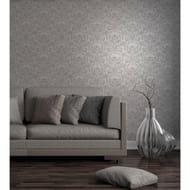 Fine Decor Wentworth Damask Wallpaper - Grey/Silver