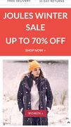 Special Offer - Joules Outlet Winter Sale up to 70% Off!