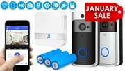 Wireless Video Doorbell - 2 Colours & Optional Batteries & Chime