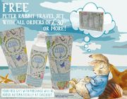 Beatrix Potter Gifts - Free Peter Rabbit Travel Set with Orders of £30 or More