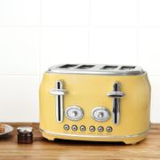 Retro Yellow 4 Slice Toaster or Kettle Down From £40 to £28