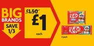 4-Pack of Selected Nestl KitKat or KitKat Chunky for £1 Each