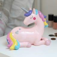 Colourful Unicorn Money Box