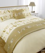 Love Bed in a Bag - Single- Gold - Only £6.59!