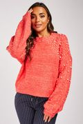 Pearl Detail Knit Sweater at Everything 5 Pounds - Only £5!