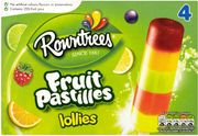 Rowntree's Fruit Pastille Ice Lollies 4x65ml at Sainsbury's