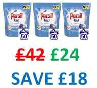 Persil 3-in-1 Non Bio Washing Capsules 150 Wash, 3 PACKS X 1350g