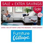 Furniture Village SALE + EXTRA SAVINGS THIS WEEKEND! Sofas, Dining and Beds