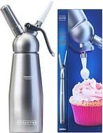 80% off Professional Aluminum Whipped Cream Dispenser W/ 3 Decorating Nozzles