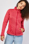 Rose Coloured Casual Jacquard Pattern Jacket Only £2.50 Half Price