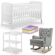 Babylo 4 Piece Room Set (White/Grey)