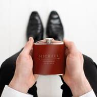 Personalised Groomsmen Hip Flask