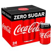 Coca-Cola Zero Sugar 24 X 330ml £6 at Iceland