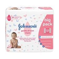 4 Packs Johnsons Baby Wipes
