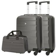 2 X Aerolite Hard Shell Cabin Cases & Hand Luggage Holdall Bag - £44