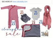 Bamboo and Organic Cotton Babywear Clearance