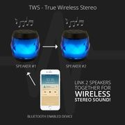 EvoDX BT 4.0 Speakers LED Multi-Colour TWS Feature and Handsfree Mic Twin Pack
