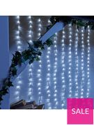 240 White LED Waterfall Indoor/Outdoor Christmas Lights