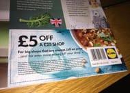 £5 off a £25 Shop at Lidl (Grab a Leaflet instore)