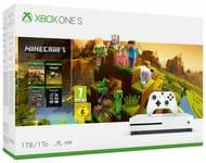 Microsoft Xbox One S 1TB Console & Minecraft Creators Bundle - White Only 219.99