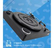 *SAVE over £30* JAM Play Belt Drive Turntable - Black
