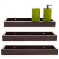 Black Floating Shelves - 3pk