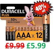 CHEAP PRICE! Duracell plus AAA Alkaline Batteries - Pack of 12