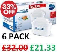 BRITA MAXTRA+ Water Filter Cartridges - Pack of 6