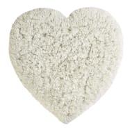 Faux Sheepskin Cream Heart Rug HALF PRICE