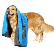 Microfibre Dog Bathrobe Puppy Cat Absorbent Quick Drying Towel Blanket
