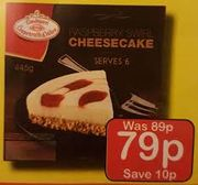 6 Servings Raspberry Swirl Cheesecake at Farmfoods