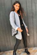 Grey Knitted Oversized Cardigan, Only £8.79!